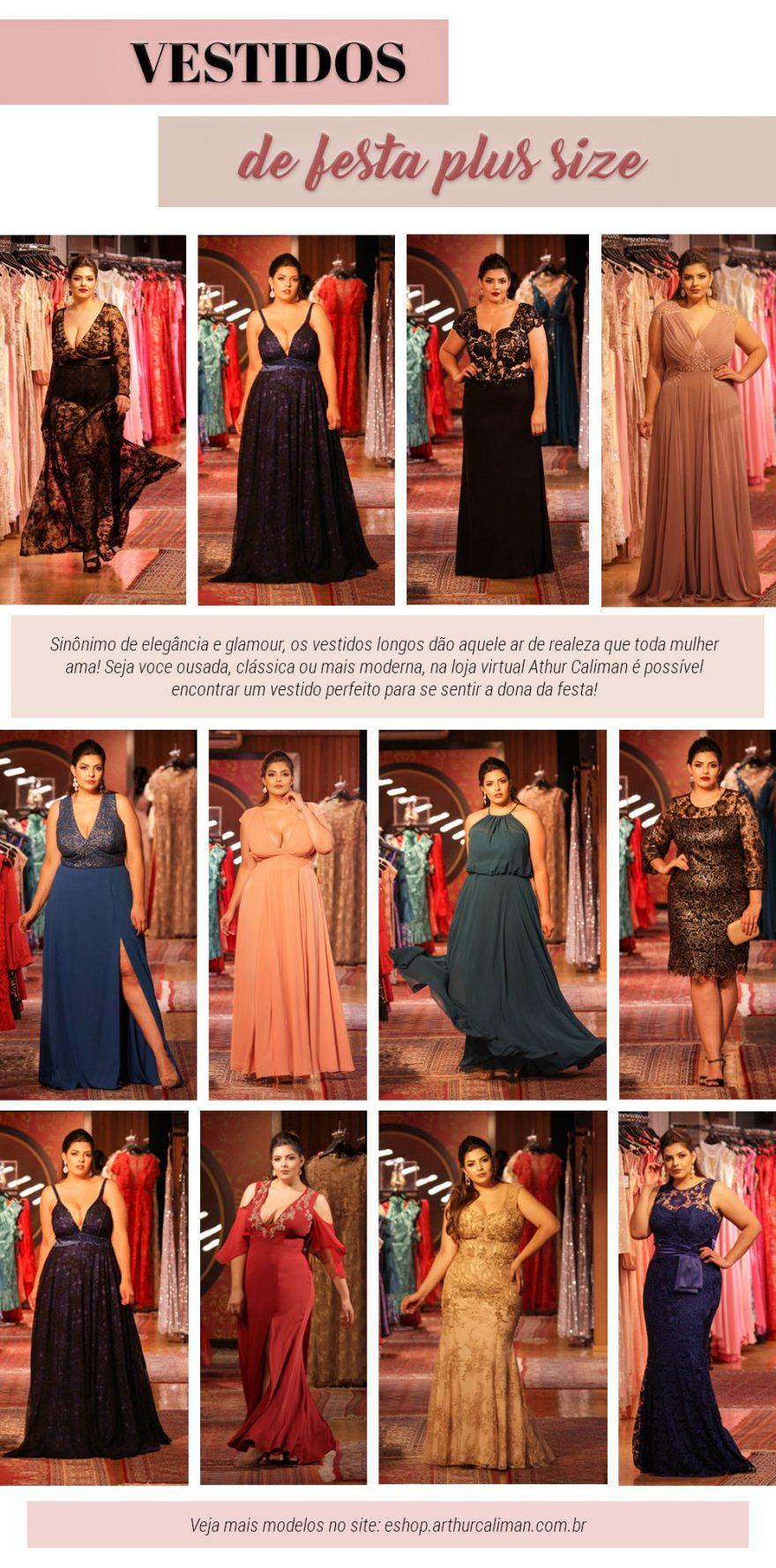 Vestido de festa plus size: veja diversas opções modernas, dos mais variados estilos, para arrasar na temporada de formaturas!