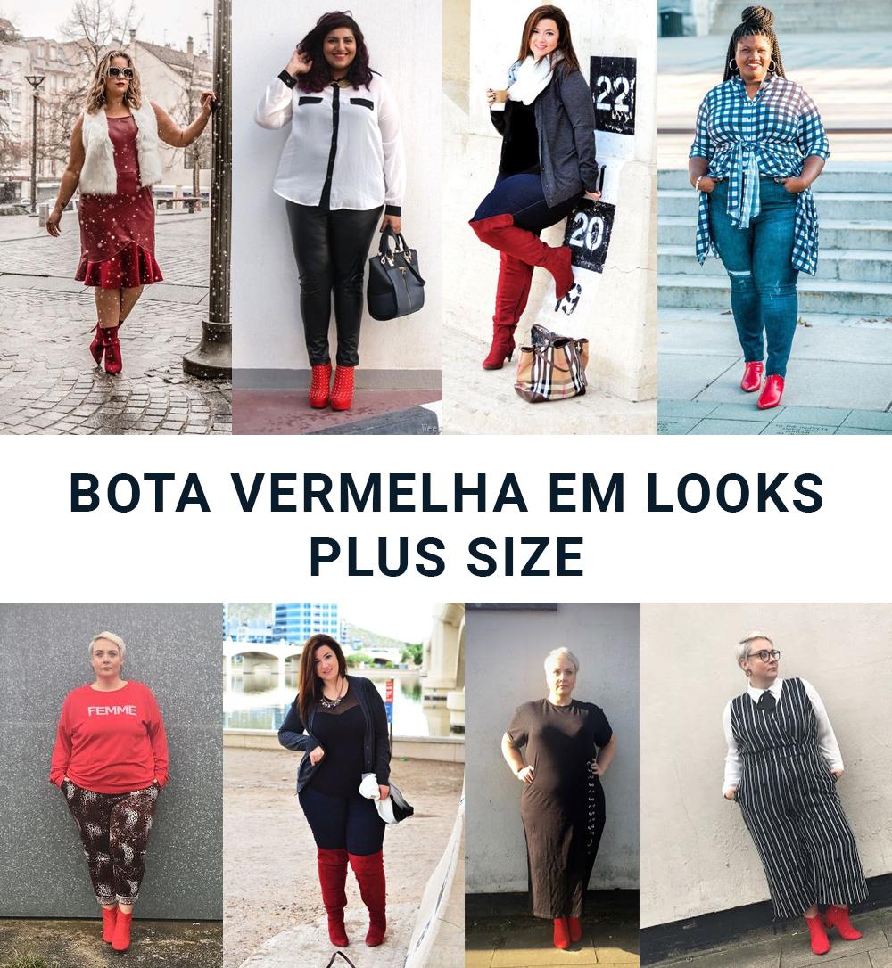 Bota vermelha: a tendência do momento também cai bem em mulheres plus size! Veja looks inspiradores para o dia a dia!