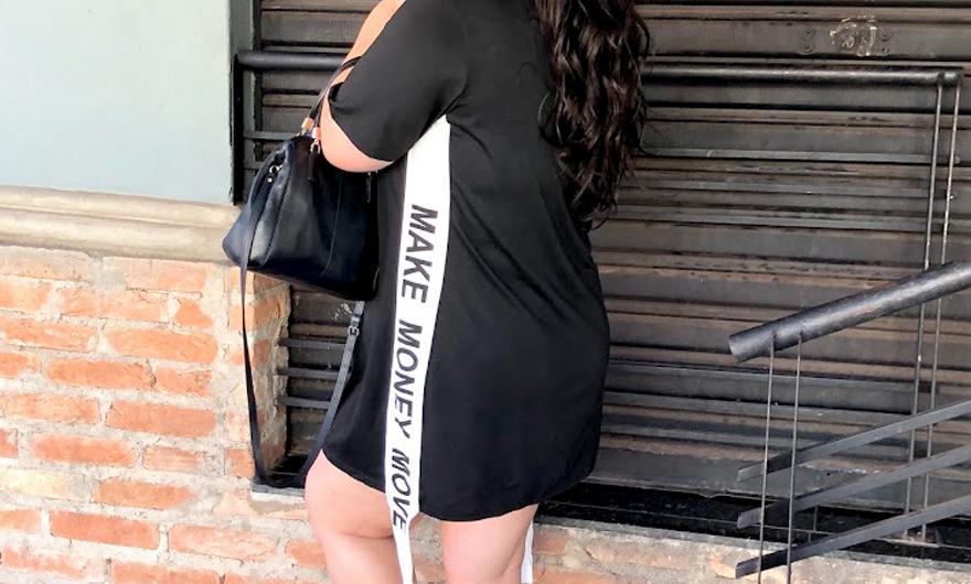 a40fc38b5e Este vestido descolado plus size é muito a minha cara! Já fiz alguns posts  comentando com vocês sobre todas as peças maravilhosas que ...
