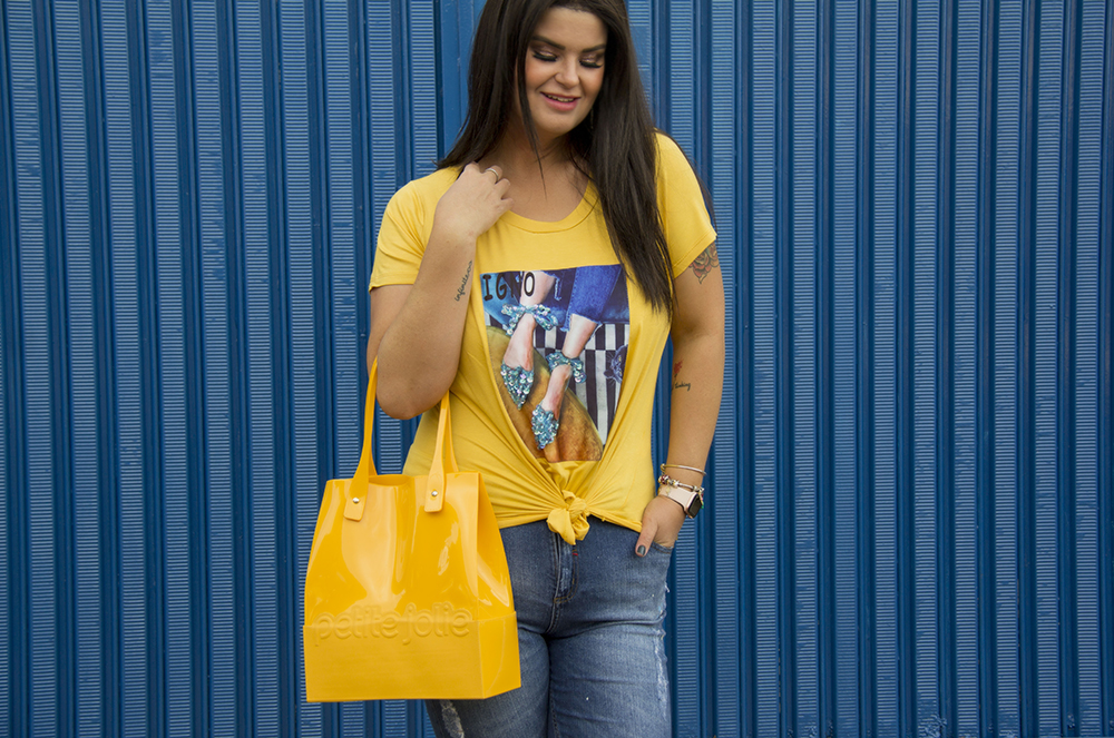 Look do dia com jeans plus size da Predilect's Plus