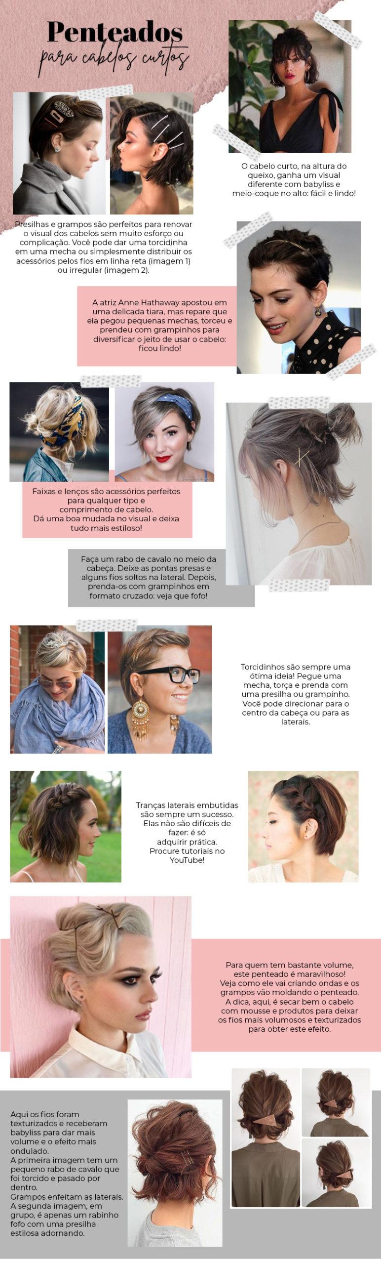 Penteados para cabelos curtos: veja modelos fáceis de fazer!