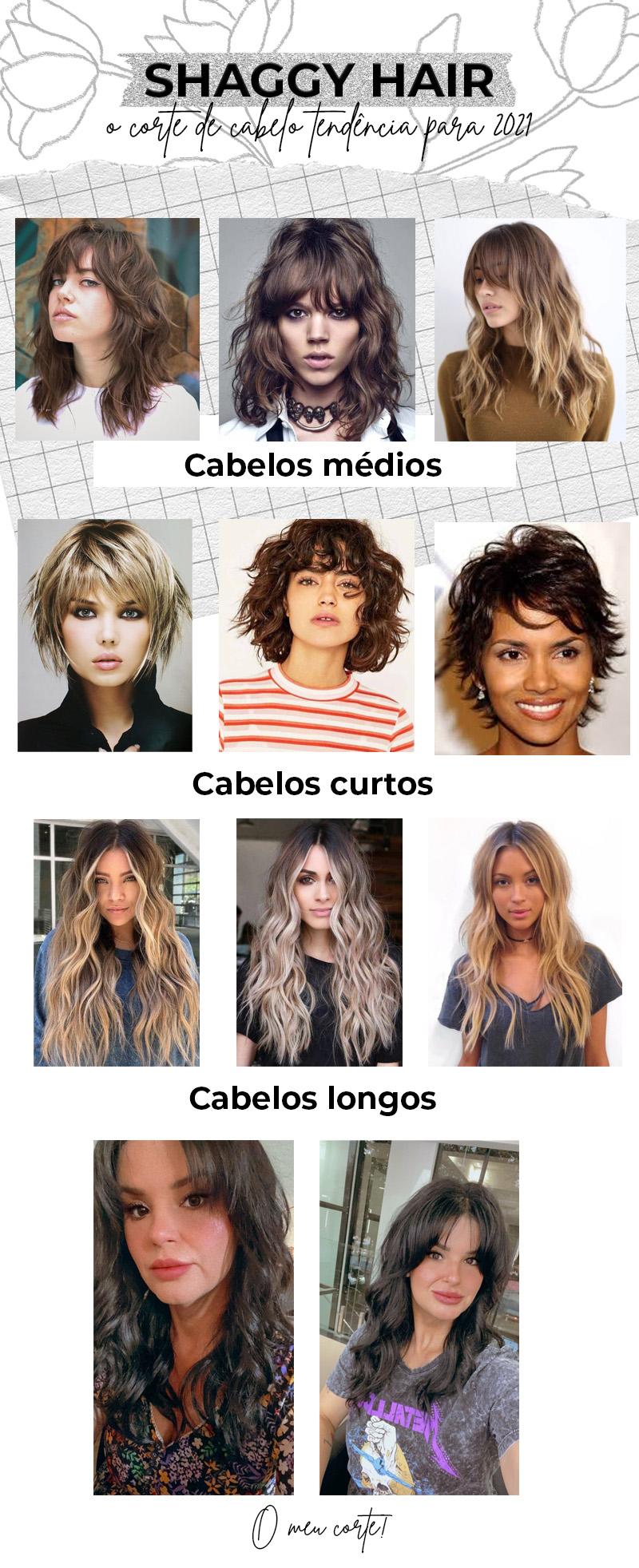 Veja diferentes estilos de shaggy hair: o corte de cabelo feminino tendência para 2021.
