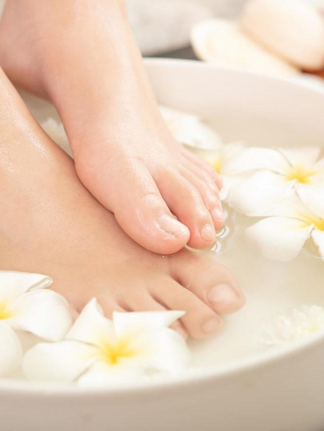 Escalda pés para relaxar e aliviar o estresse