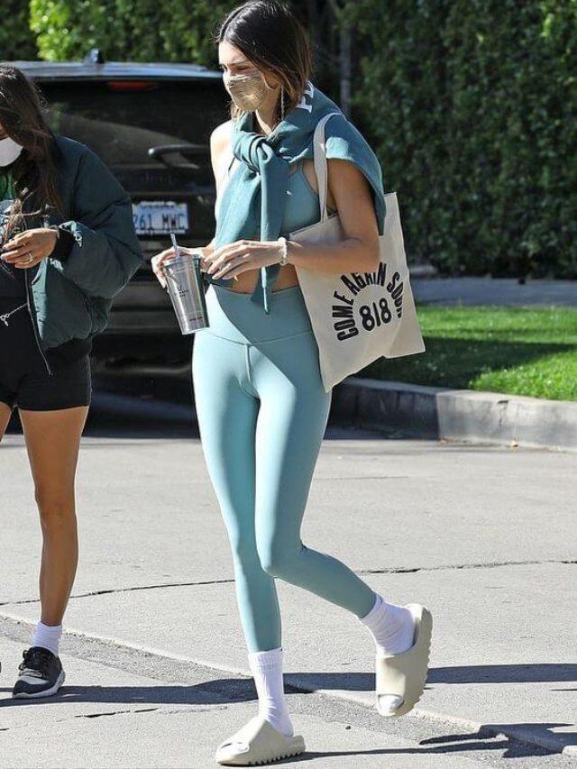 Kendall Jenner e a paixão por chinelos hut